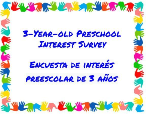 3-year-old Preschool Interest Survey