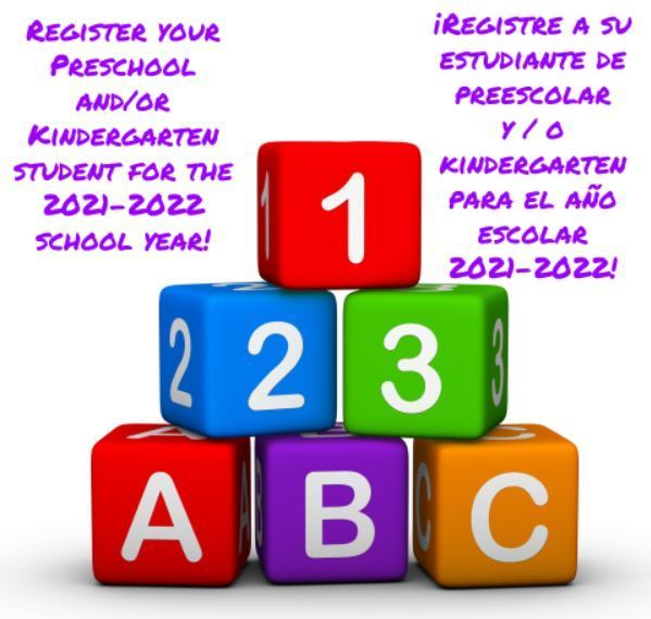 It is Time for Preschool and Kindergarten  Pre-Registration!