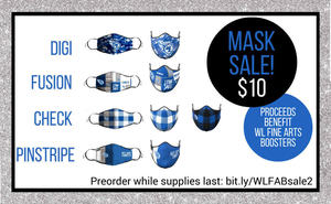 Back by Popular Demand!  Fine Arts Boosters Face Masks!