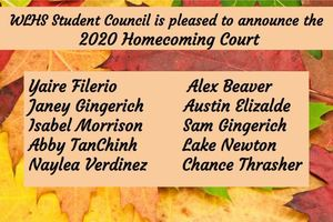 WLHS 2020 Homecoming Court