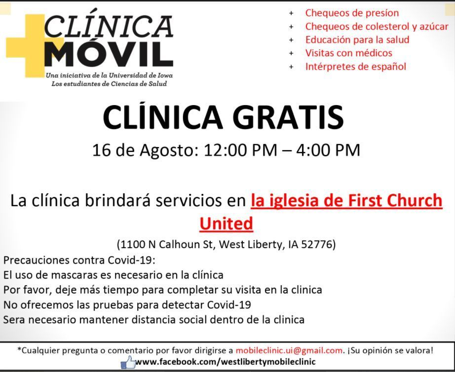 Spanish Mobile Clinic Flyer